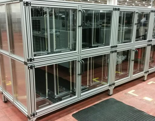FIFO Storage Rack management that allows inventory placed into a rack system from Doody Engineering
